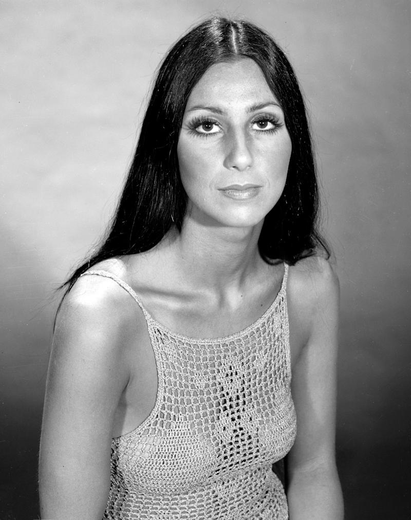 Promtional portrait of American singer and actress Cher (born Cherilyn Sarkisian LaPiere) for the television variety show 'The Sonny and Cher Comedy Hour,' June 7, 1970. (Photo by CBS Photo Archive/Getty Images)
