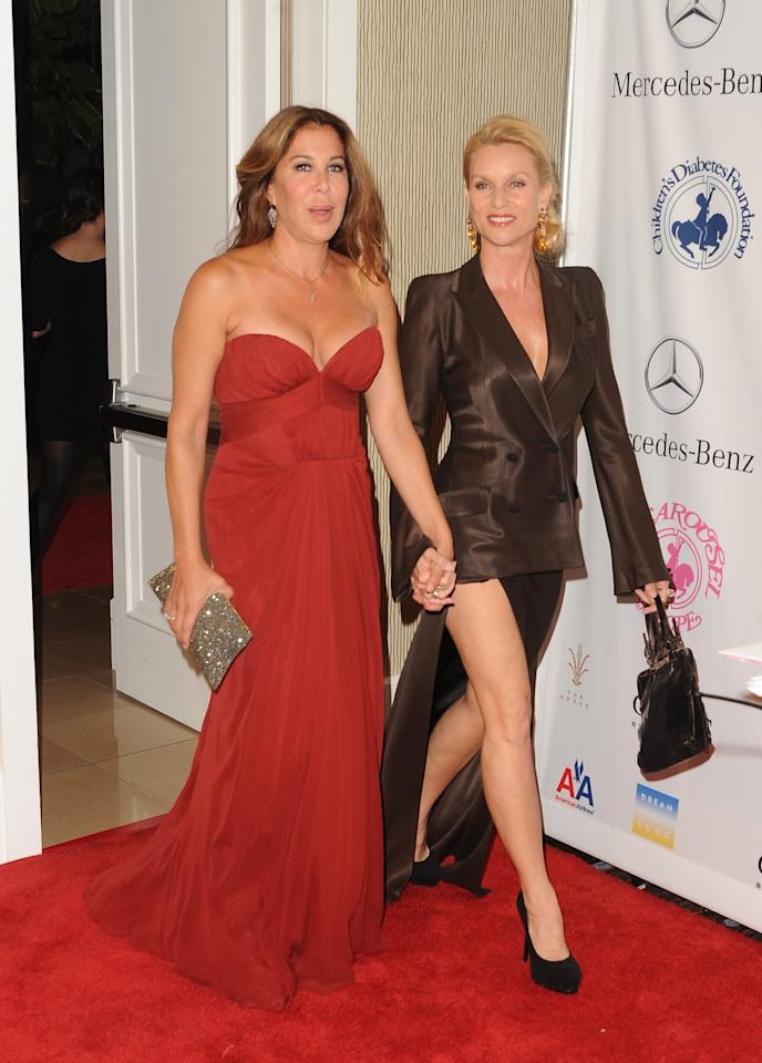BEVERLY HILLS, CA - OCTOBER 20:  Lyndie Benson-Gorelick and actress Nicollette Sheridan arrives at the 26th Anniversary Carousel Of Hope Ball presented by Mercedes-Benz at The Beverly Hilton Hotel on October 20, 2012 in Beverly Hills, California.  (Photo by Jason Merritt/Getty Images)
