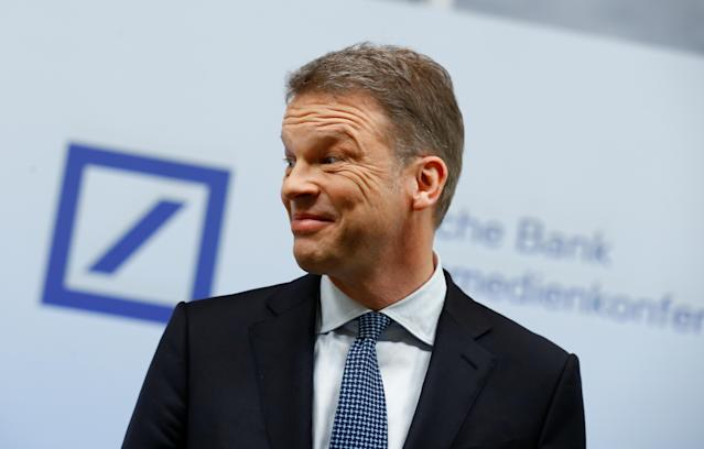 Christian Sewing, CEO of Deutsche Bank AG, arrives to address the media during the bank's annual news conference in Frankfurt, Germany January 30, 2020. REUTERS/Ralph Orlowski