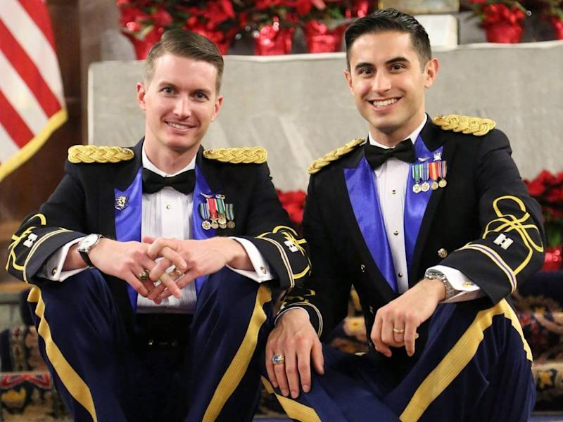 Daniel Hall and Vincent Franchino made history by becoming the first active-duty same-sex couple to marry at West Point: Jennifer Marsh