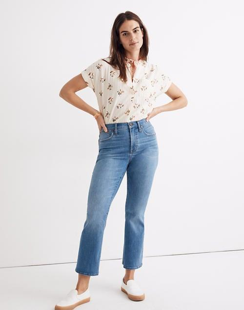 <p>Pair these <span>Madewell Slim Demi-Boot Jeans</span> ($128) with cute white sneakers.</p>