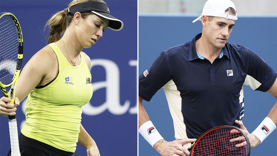 Danielle Collins and John Isner, pictured here in action at the US Open.