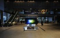 Sony Corp's 4K television set is displayed at the company's headquarters in Tokyo February 6, 2014. REUTERS/Toru Hanai