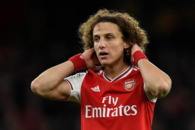 David Luiz durante jogo do Arsenal (Foto: Reuters)
