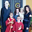 """<p>This family is keeping the magic alive with this totally impressive Harry Potter-themed look. Mom and Dad are dead ringers for the wicked Voldemort and Bellatrix, while their kids dressed up as Harry, Hermione and Ron. Their toddler even joined in as Hedwig the owl.</p><p><em><a href=""""http://paperpenpolaroid.blogspot.com/2011/10/all-hallows-eve.html"""" rel=""""nofollow noopener"""" target=""""_blank"""" data-ylk=""""slk:See more at Paper, Pen, and Polaroids »"""" class=""""link rapid-noclick-resp"""">See more at Paper, Pen, and Polaroids »</a></em></p>"""