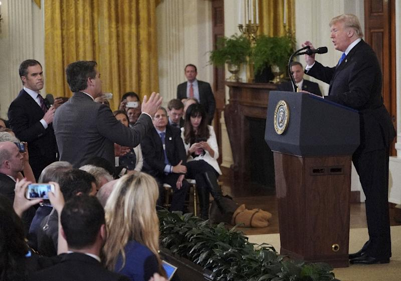 Image result for trump and journalist