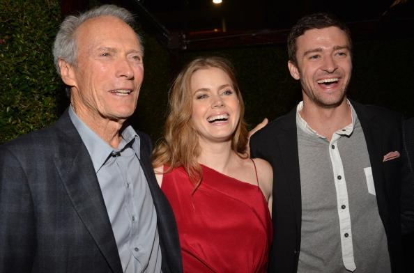 "Actor/Producer Clint Eastwood, actors Amy Adams and Justin Timberlake attend Warner Bros. Pictures' ""Trouble With The Curve"" premiere after party on September 19, 2012 in Westwood, California."