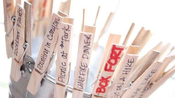 PHOTO: Make an adorable summer bucket list of a bucket and clothespins. (DeliaCreates)