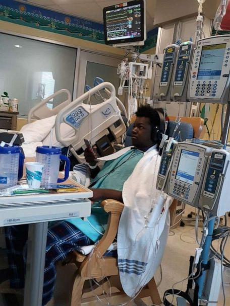 PHOTO: On Dec. 2, Marquis Davis underwent heart and kidney transplant surgery at Cincinnati Children's Hospital in Ohio. The 17-year-old was born with hypoplastic left heart syndrome. (Porsha Jackson)