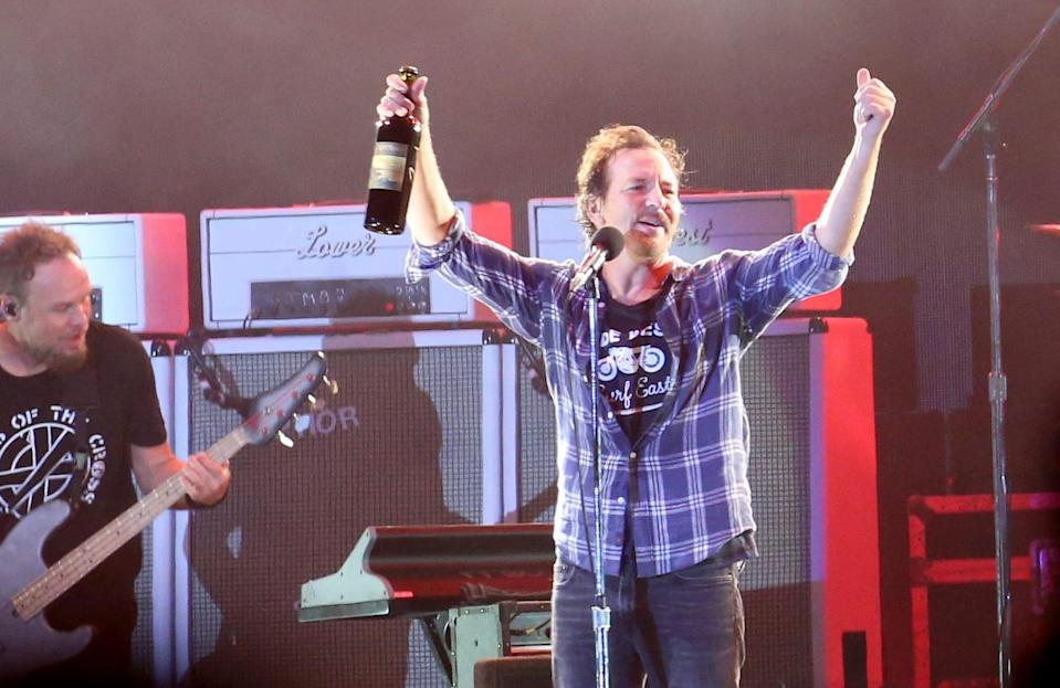 Pearl Jam performs onstage during Ohana Fest at Doheny State Beach on September 26, 2021 in Dana Point, California. - Credit: Karl Walter for Variety