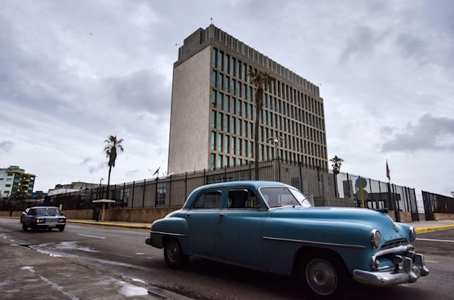 The U.S. embassy in Havana (ADALBERTO ROQUE via Getty Images)