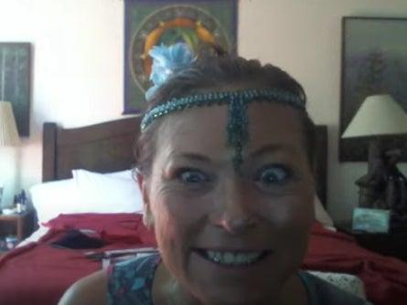 Amy Carlson, the leader of the Love Has Won cult, was found dead in a house in Colorado. Her corpse had decayed for several weeks and was decorated with fairy lights and glitter and appeared to be a shrine for cult members living in the house. (YouTube screengrab)