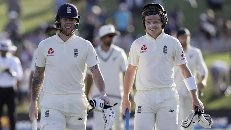 Ben Stokes and Ollie Pope have put on an unbeaten 76-run stand to guide England to 4-224 at stumps