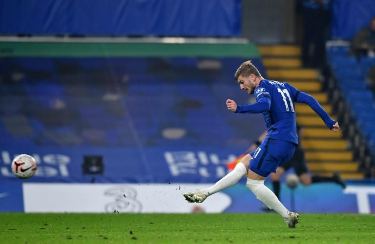 Sharp shooter: Timo Werner scored Chelsea's final goal in a 4-1 win over Sheffield United