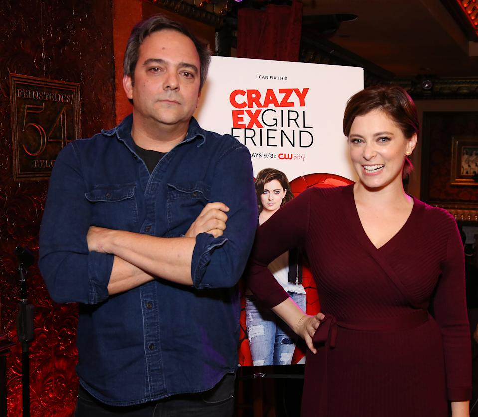 NEW YORK, NY - NOVEMBER 03:  Adam Schlesinger and Rachel Bloom attend the 'Crazy Ex-Girlfriend' Live Event  at the Feinstein's/54 Below on November 3, 2016 in New York City.  (Photo by Walter McBride/Getty Images)