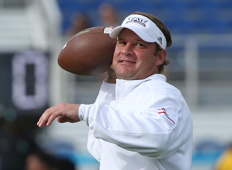 Lane Kiffin and Ole Miss have had troubles on their own, and together they'll be can't-miss television. (Photo by Joel Auerbach/Getty Images)