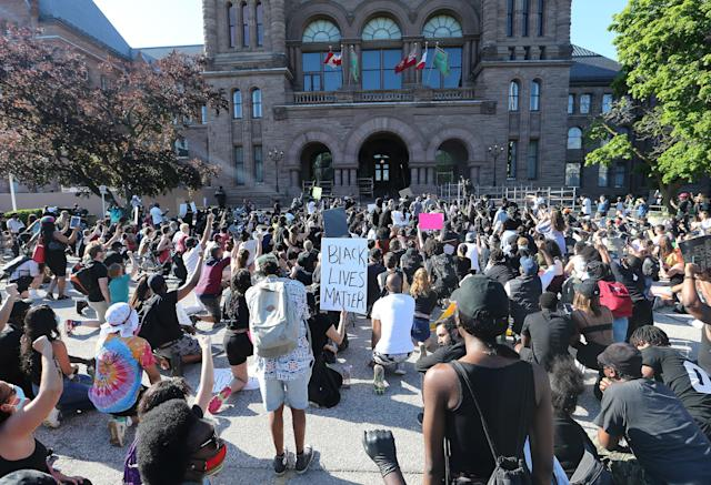 Protesters in Toronto. (Steve Russell/Toronto Star via Getty Images)