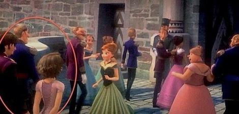 Frozen features two hidden cameos from Rapunzel and Eugene.