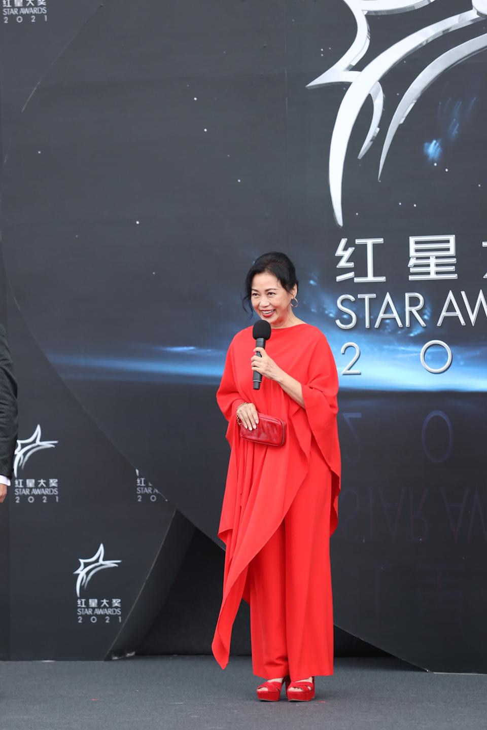 Xiang Yun at Star Awards held at Changi Airport on 18 April 2021. (Photo: Mediacorp)
