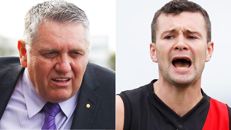 Seen here, Ray Hadley was scathing of Essendon's Conor McKenna after his positive virus test.