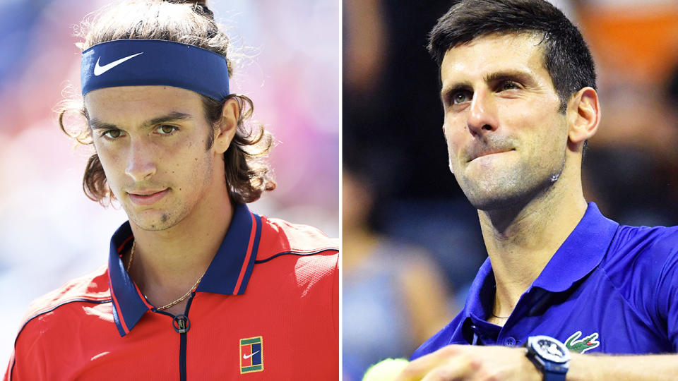 Novak Djokovic and Lorenzo Musetti, pictured here in action at the US Open.