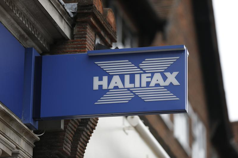 A Halifax logo in Beaconsfield, Buckinghamshire.