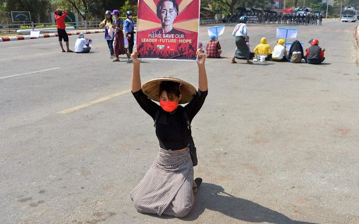 Protests are continuing in Myanmar despite a brutal crackdown by the security forces - AFP