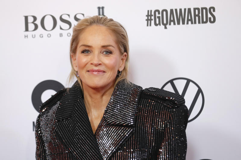 Sharon Stone arrives for the 21st GQ Men of the Year Award
