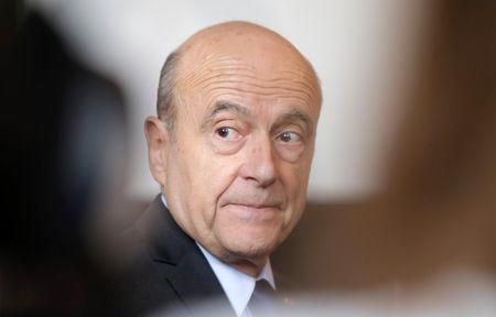 Alain Juppe, current mayor of Bordeaux, attends a news conference before the city council in Bordeaux