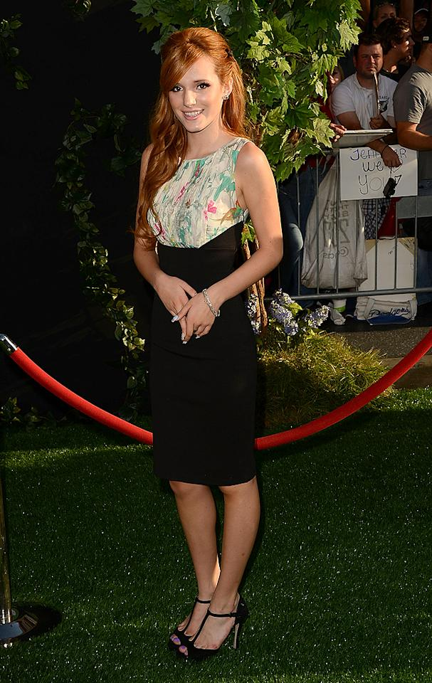 "Following in Garner's footsteps (at the ""Odd Life of Timothy Green"" fete) was Disney Channel darling, Bella Thorne, who hit the AstroTurf in a simple-yet-chic Ted Baker ""Parisian Birdie"" print dress. A similar version of the frock -- priced at $255 -- is available at Nordstrom. Overpriced or just about right? Discuss! (8/6/2012) Thorne supports school supply drive"