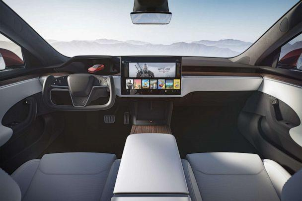 PHOTO: The redesigned interior on the Tesla Model S. (Tesla)