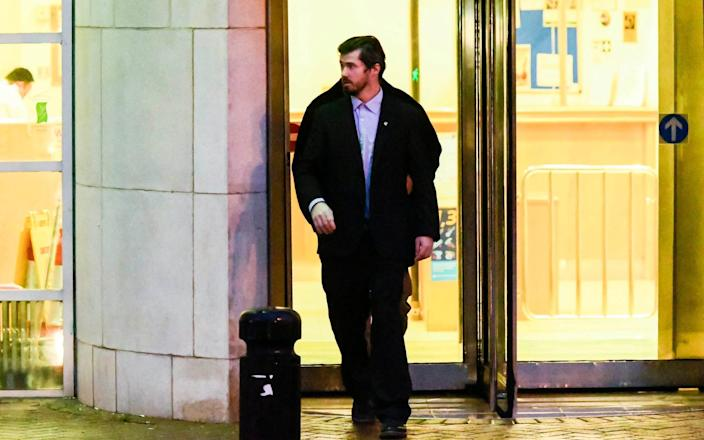 Thomas Russell leaving Bournemouth Crown Court - Graham Hunt/BNPS