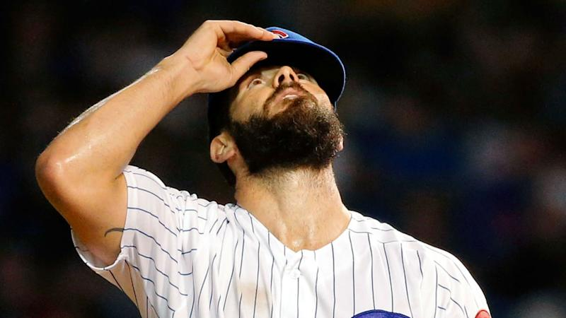 Baby face: Jake Arrieta shaves off beard, wife proudly shares new look