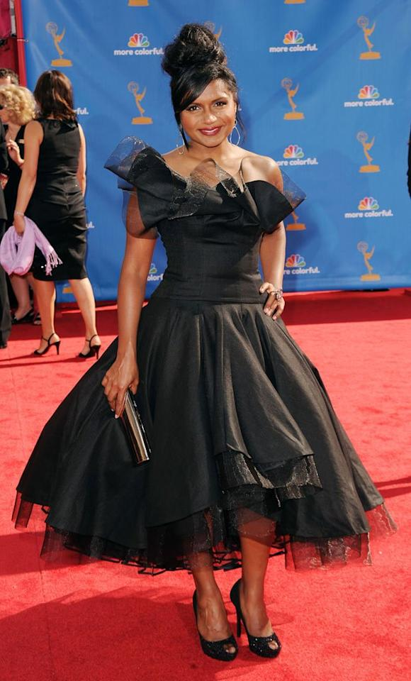 WORST: Mindy Kaling at the 62nd Primetime Emmy Awards held at the Nokia Theatre on August 29, 2010, in Los Angeles.