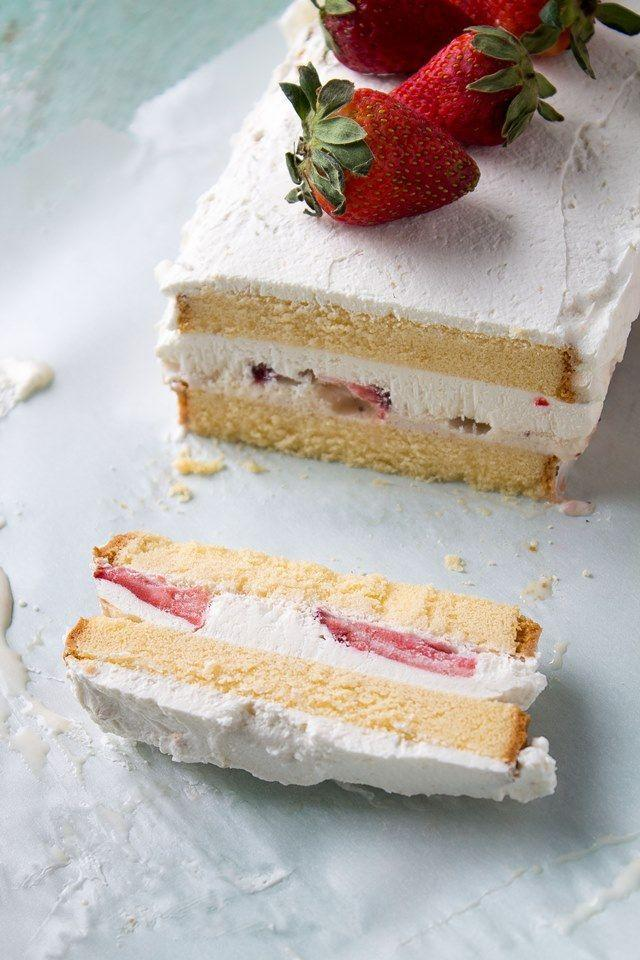"<p><span>Whatever you do, don't go through summer without making ice cream cake.</span></p><p><span>Get the recipe from </span><a href=""http://anightowlblog.com/2013/04/strawberries-and-cream-ice-cream-cake.html/?_szp=371225"" rel=""nofollow noopener"" target=""_blank"" data-ylk=""slk:A Night Owl"" class=""link rapid-noclick-resp"">A Night Owl</a><span>.</span><br></p>"
