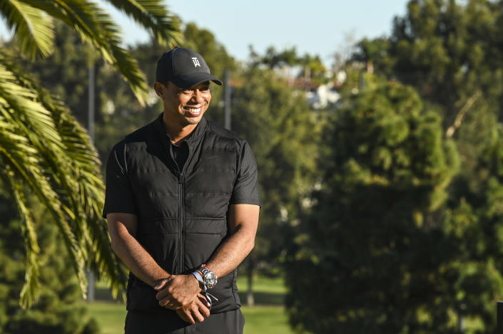 Tiger Woods on Sunday at Riviera Country Club. (Photo by Keyur Khamar/PGA TOUR via Getty Images)