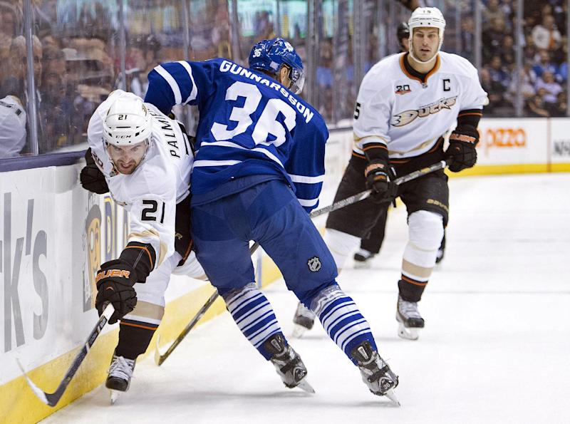Kessel's trick rallies Leafs to 4-2 win over Ducks
