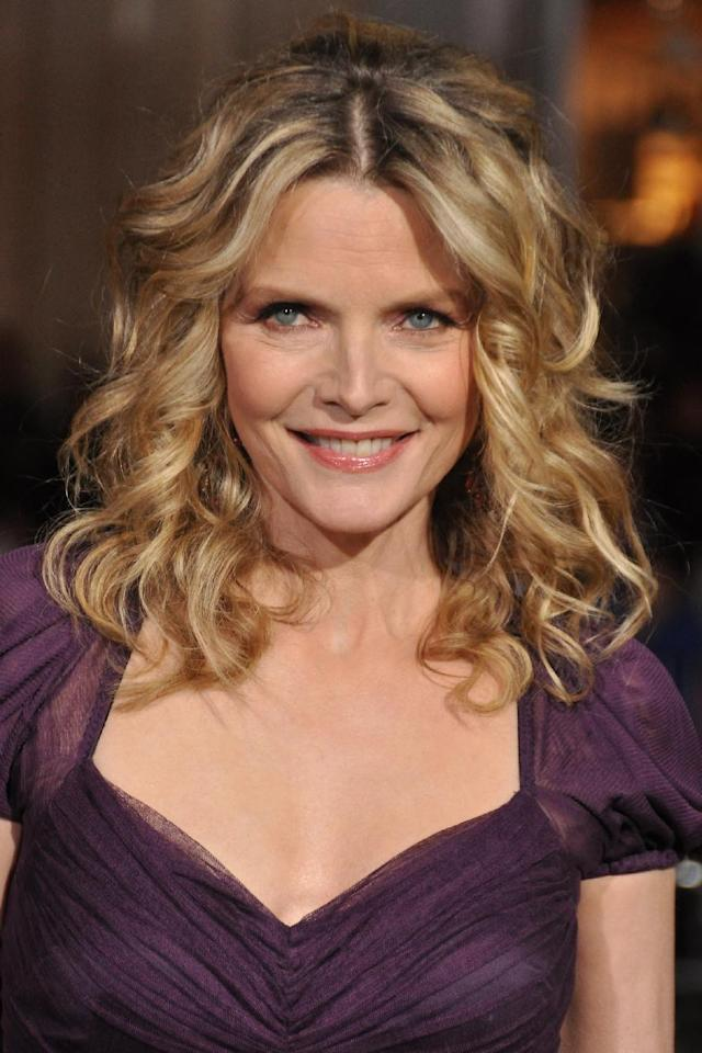 """FWD101 Michelle Pfeiffer attends the """"New Year's Eve"""" premiere in Los Angeles on Monday, December 5, 2011. (Fashion Wire Daily/Maria Ramirez)"""