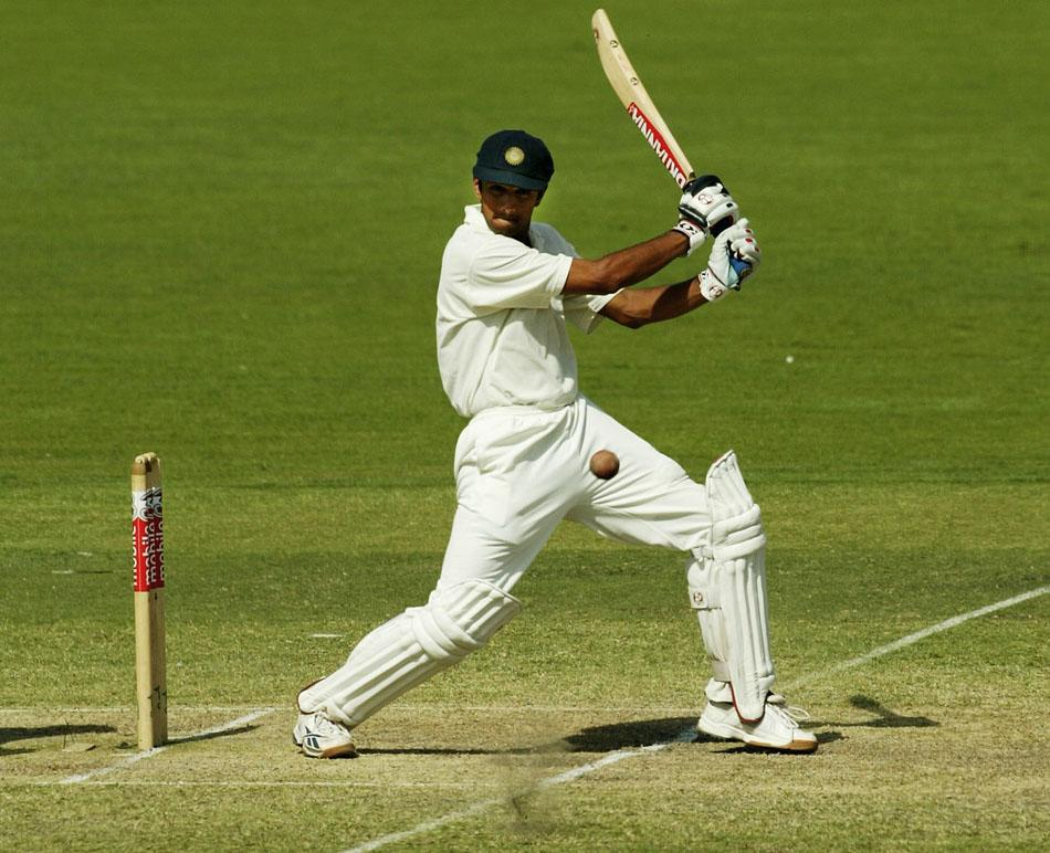 December 16, 2003: Rahul Dravid of India hits the winning runs to score a famous Test win for India against Australia in Adelaide. Photo by Hamish Blair/Getty Images