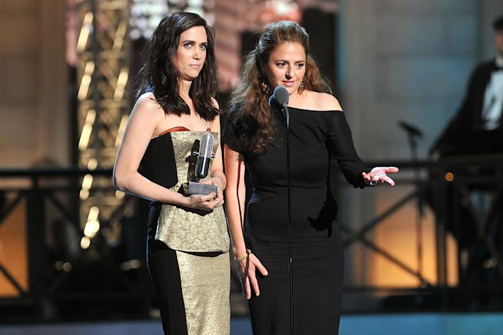 "Kristen Wiig and Annie Mumolo at The Comedy Awards way back in 2012, the year after 'Bridesmaids' was released<span class=""copyright"">Getty Images—2012 Getty Images</span>"