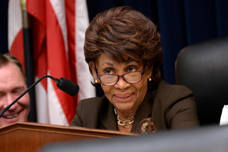 "REFILE - CORRECTING STATE OF REPRESENTATION??U.S. Representative and Chairwoman of House Financial Services Committee Maxine Waters (D-CA) speaks during Federal Reserve Board Chairman Jerome Powell's testimony in a House Financial Services Committee hearing on ""Monetary Policy and the State of the Economy"" in Washington, U.S. July 10, 2019. REUTERS/Erin Scott"