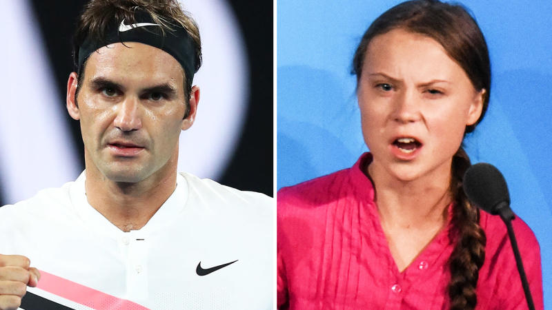 Roger Federer issues non-committal reply to Greta Thurnberg fossil fuel criticism