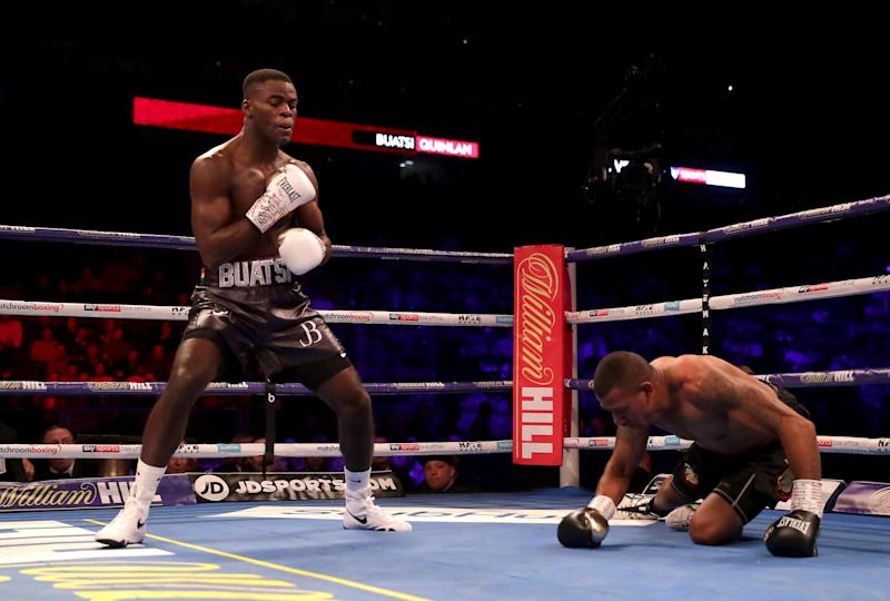 Josh Buatsi seeks out another win after dismissing Renold Quinlan in December. (Getty Images)