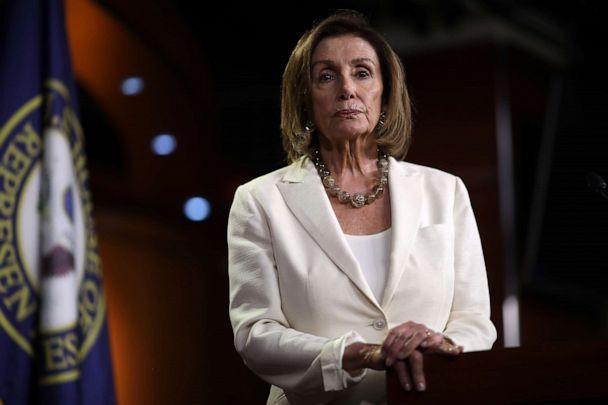PHOTO: Speaker of the House Nancy Pelosi answers questions during a press conference at the Capitol in Washington D.C., July 11, 2019. (Win Mcnamee/Getty Images, FILE)