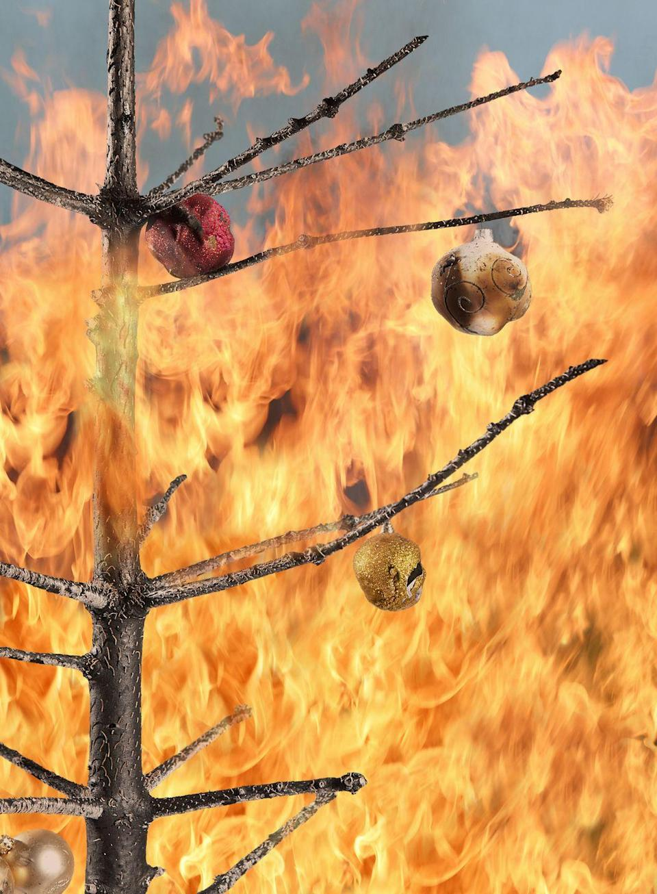 "<p>For the love of Christmas, don't forget to water your tree. Dried-out Christmas trees spark about a hundred fires each year, cause an average of 10 deaths, and result in $15.7 million in property damage, the <a href=""https://www.cpsc.gov/Newsroom/News-Releases/2018/Put-Safety-at-the-Top-of-Your-List-When-Decorating-this-Holiday-Season"" rel=""nofollow noopener"" target=""_blank"" data-ylk=""slk:Consumer Product Safety Commission reports"" class=""link rapid-noclick-resp"">Consumer Product Safety Commission reports</a>. Not only will an errant spark ruin your holiday, it can put both you and responding firefighters in danger. </p><p><strong>RELATED:</strong> <a href=""https://www.goodhousekeeping.com/holidays/christmas-ideas/g1863/fake-christmas-trees/"" rel=""nofollow noopener"" target=""_blank"" data-ylk=""slk:Artificial Christmas trees that look real"" class=""link rapid-noclick-resp"">Artificial Christmas trees that look real</a></p>"