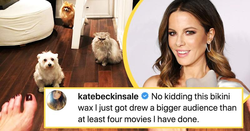 Kate Beckinsale Shares Pic Of 'Audience' That Gathered For Her Bikini Wax