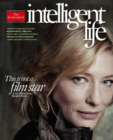 "<div class=""caption-credit""> Photo by: Intelligent Life</div><div class=""caption-title""></div><b>Cate Blanchett</b> <br> The actress appears Photoshop-free on the March/April 2011 cover of the Economist's Intelligent Life. The magazine's editor, Tim de Lisle, said, ""When other magazines photograph actresses, they routinely end up running heavily Photoshopped images, with every wrinkle expunged."" He wanted to try something different with Blanchett. ""She looks like what she is--a woman of 42, spending her days in the office, her evenings on stage, and the rest of her time looking after three young children,"" said de Lisle of her cover photo."