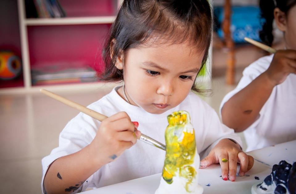 """<span class=""""caption"""">'Purposeful play' could look like children gaining opportunities to develop fine motor skills and cognitive abilities through talking about their inquiry and pursuits.</span> <span class=""""attribution""""><span class=""""source"""">(Shutterstock)</span></span>"""