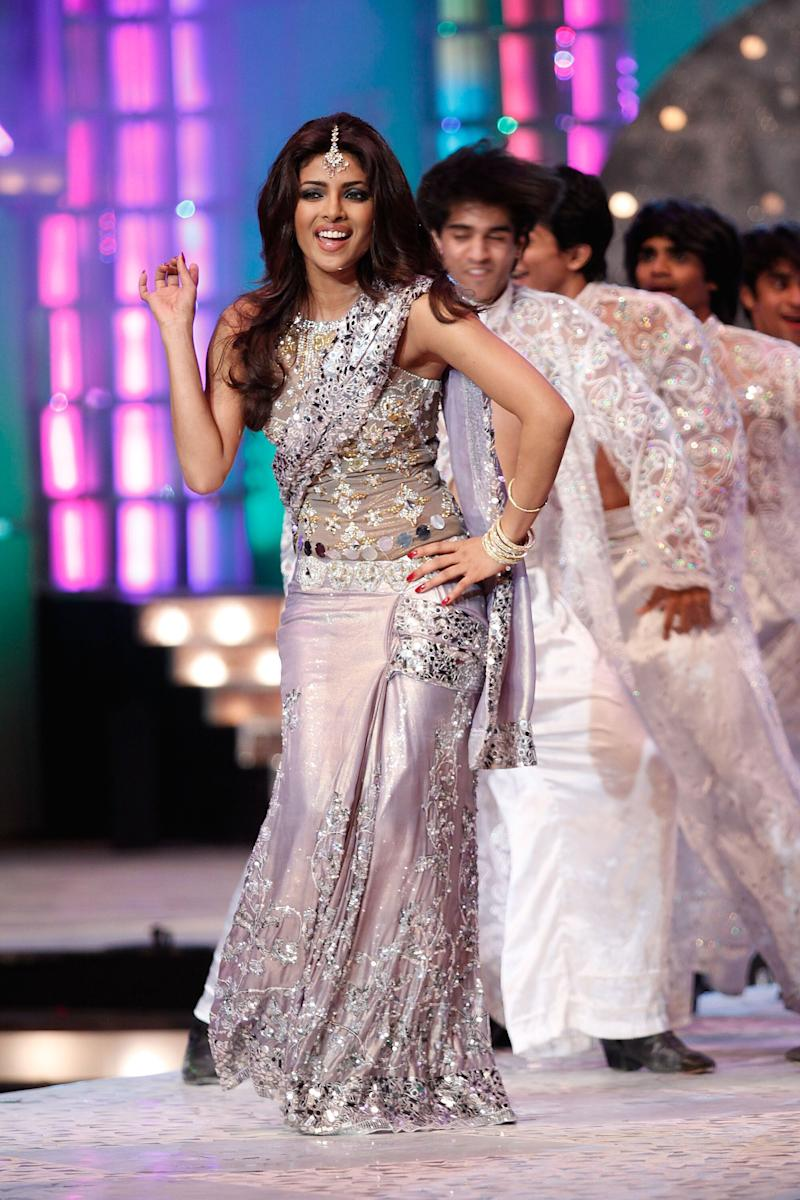 BOMBAY, INDIA - APRIL 05: Indian actress and Former Miss World Priyanka Chopra performs at the Pantaloons Femina Miss India 2009 contest held at Andheri Sports Complex on April 5, 2009 in Bombay, India. (Photo by Chirag Wakaskar/WireImage)