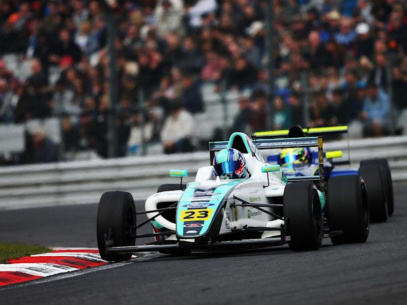 Billy Monger driving for JHR Developments earlier in April (Getty)